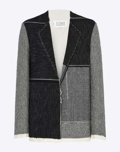 MAISON MARGIELA Blazer U Patchwork wool blend jacket f