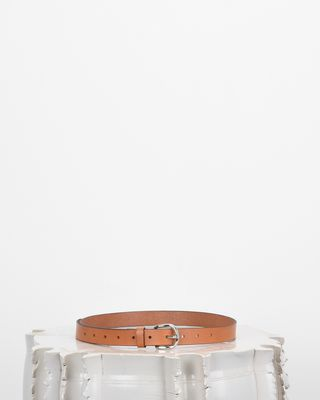 Zap smooth leather belt
