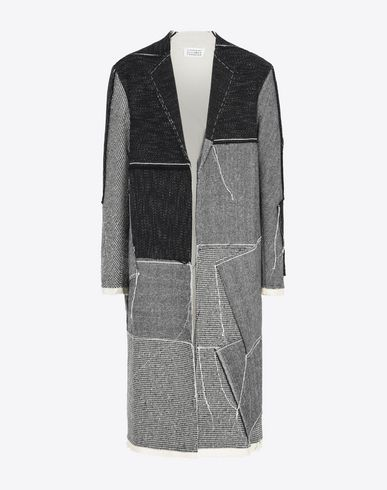 MAISON MARGIELA Coat U Patchwork wool blend coat f