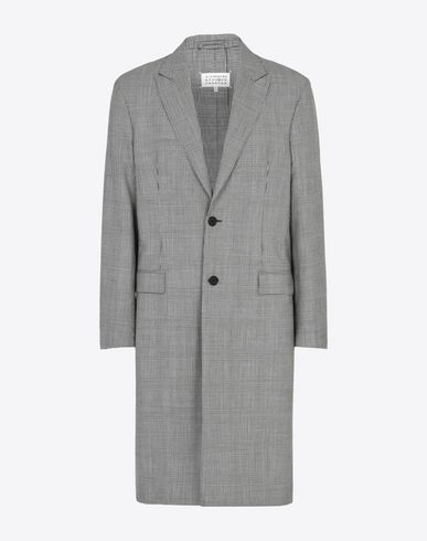 MAISON MARGIELA Coat U Check virgin wool coat f