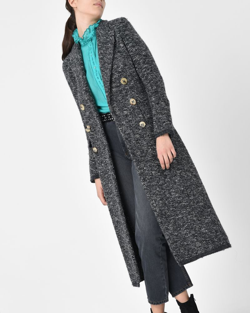 Overton Long cotton blend coat ISABEL MARANT ÉTOILE