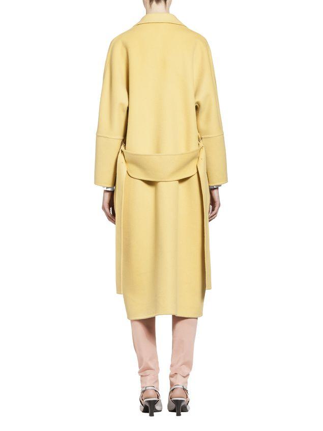Marni Belted coat in alpaca wool Woman