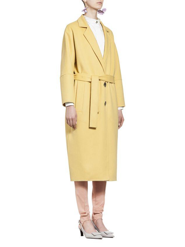 Marni Belted coat in alpaca wool Woman - 5