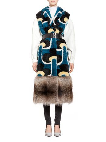 Marni Shearling vest Portrait Woman
