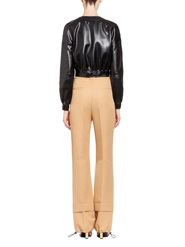 Marni Cropped jacket in faux leather Woman