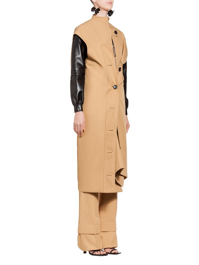 Marni Cropped jacket in faux leather Woman - 5