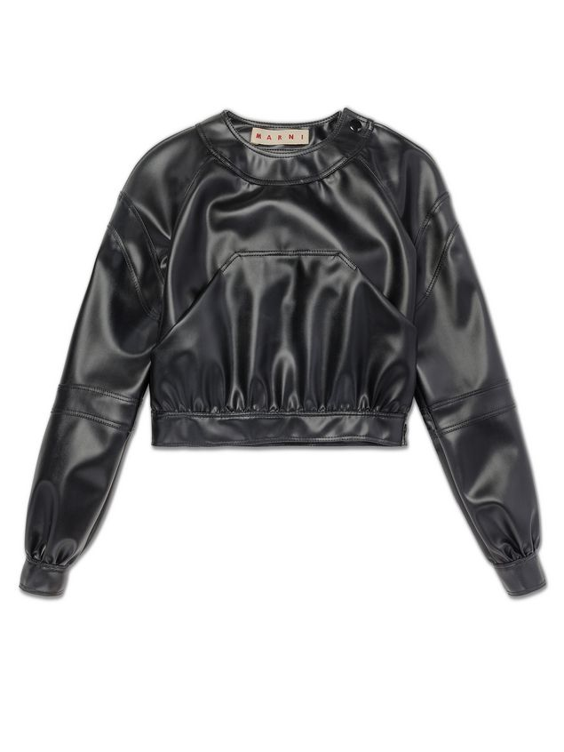 Marni Cropped jacket in faux leather Woman - 2
