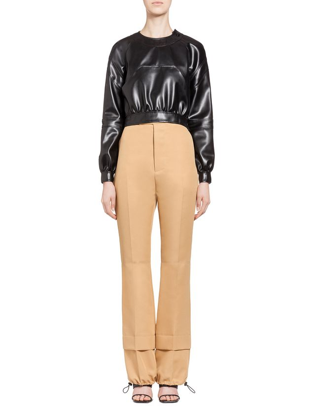 Marni Cropped jacket in faux leather Woman - 1