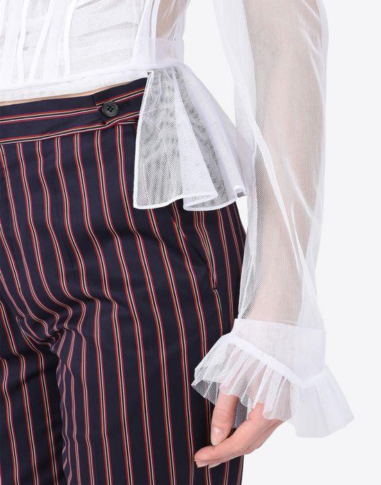 MAISON MARGIELA Transparent tulle blouse Blazer Woman a