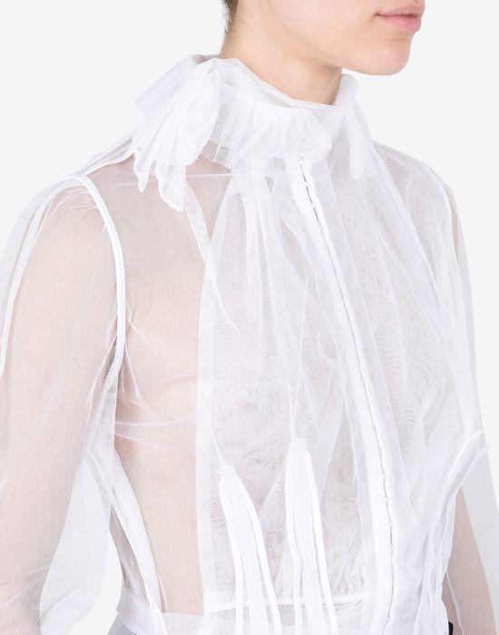 MAISON MARGIELA Transparent tulle blouse Blazer Woman b