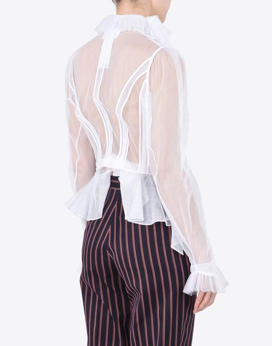 MAISON MARGIELA Transparent tulle blouse Blazer Woman e