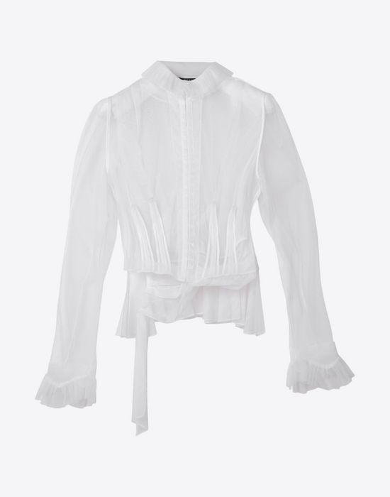 MAISON MARGIELA Transparent tulle blouse Blazer Woman f