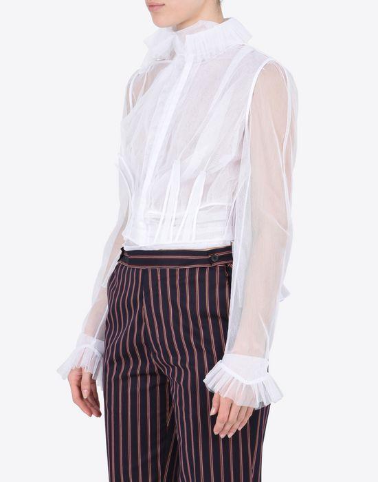 MAISON MARGIELA Transparent tulle blouse Blazer Woman r