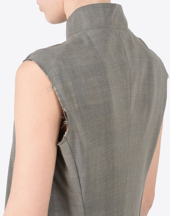 MAISON MARGIELA Long virgin wool gilet Vest D b