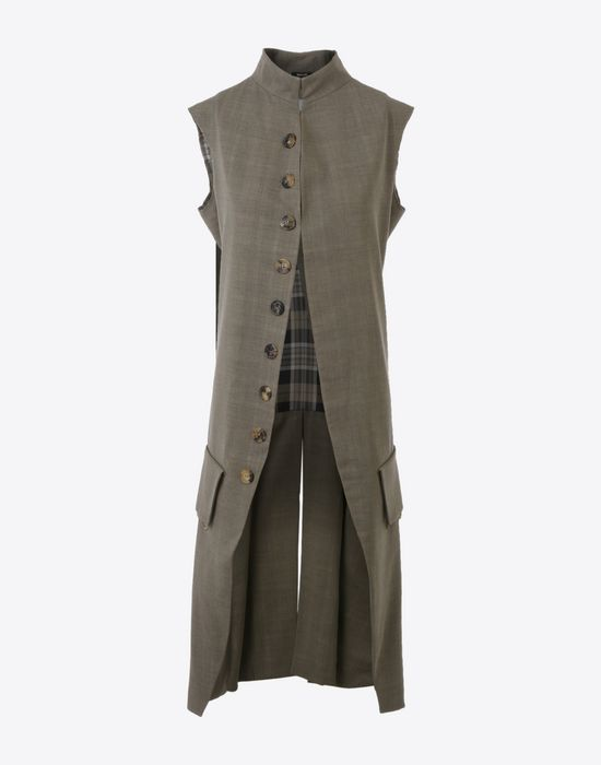 MAISON MARGIELA Long virgin wool gilet Vest D f
