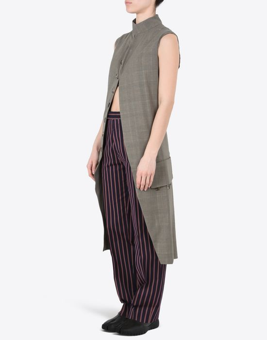 MAISON MARGIELA Long virgin wool gilet Vest D r