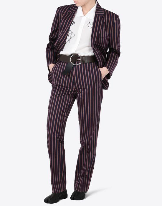 MAISON MARGIELA Striped cotton blazer Blazer D d
