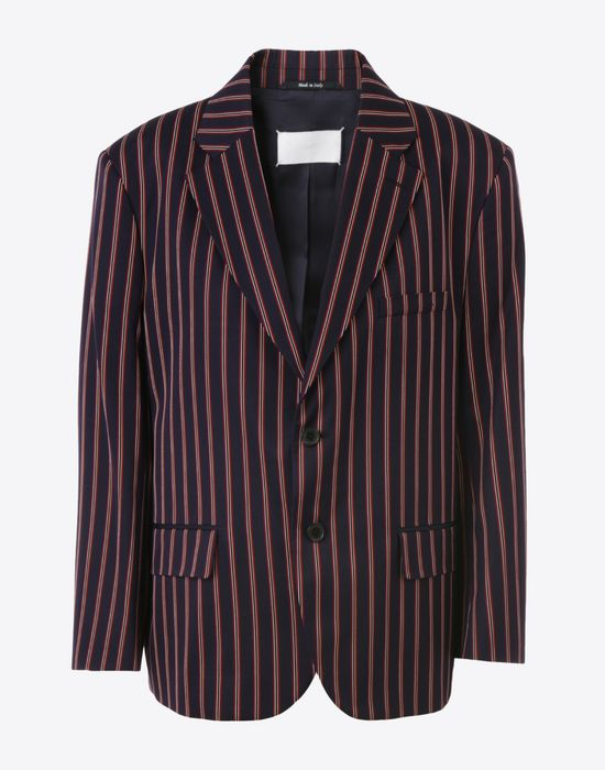 MAISON MARGIELA Striped cotton blazer Blazer D f