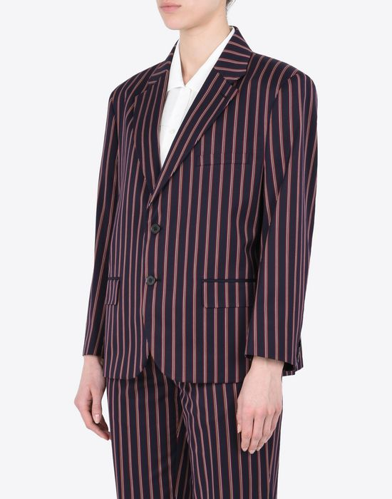 MAISON MARGIELA Striped cotton blazer Blazer D r