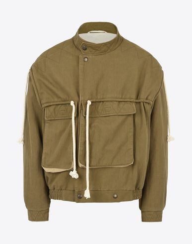 MAISON MARGIELA Jacket U Asymmetric cotton blend anorak f