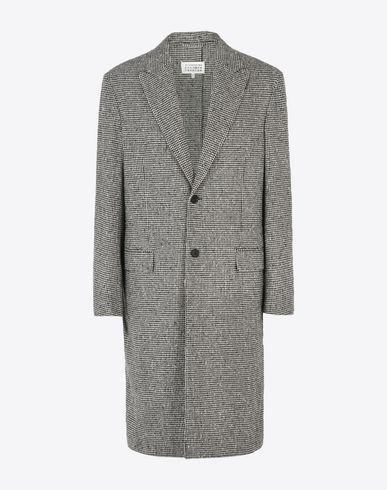 MAISON MARGIELA 14 Coat U Distressed houndstooth coat f
