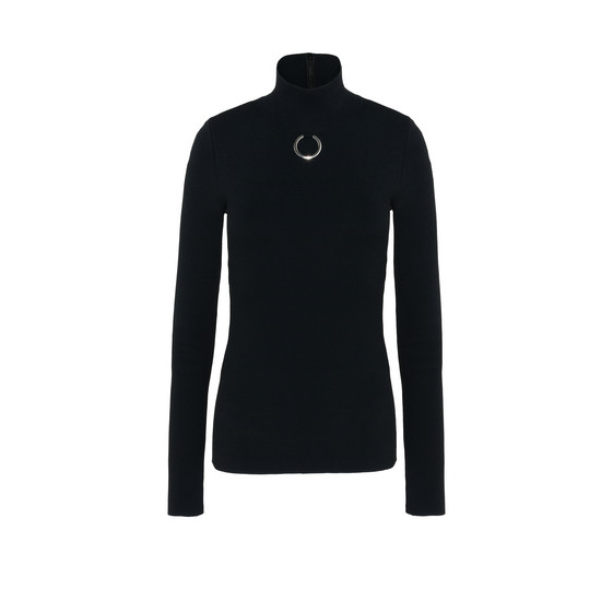 Black Turtle Neck Jumper