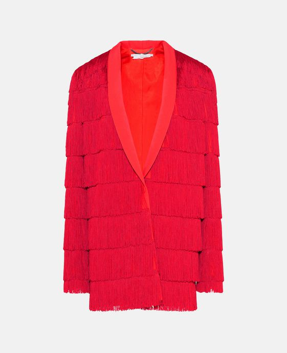 Red Fringe Tia Jacket