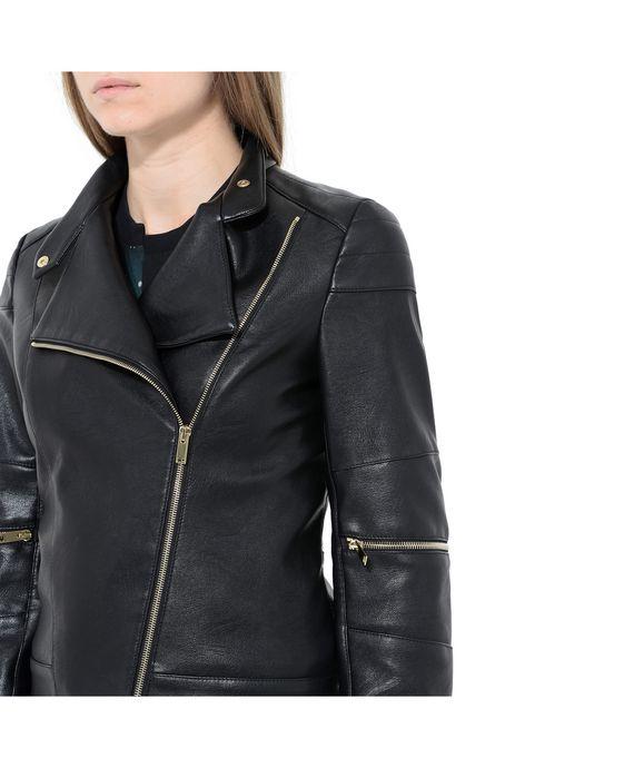 STELLA McCARTNEY Victoire Skin Free Skin Leather Jacket Short D p