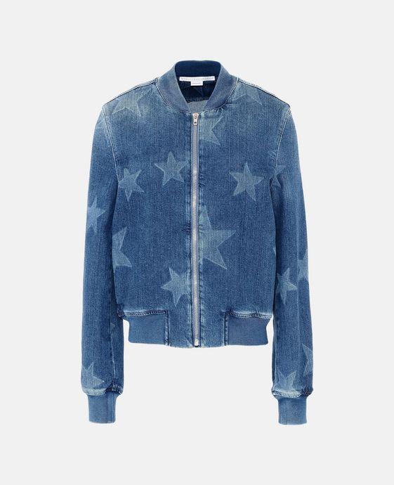 Denim Star Bomber Jacket