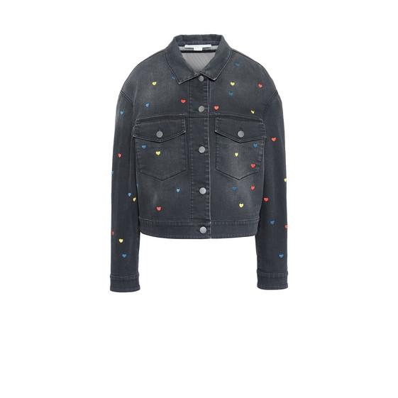 Denim Heart Embroidery Jacket