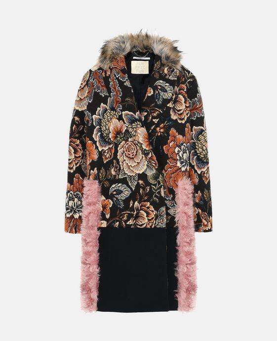 Fur Free Fur Jacquard Rosemarie Coat