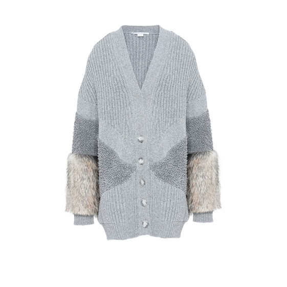 Fur Free Fur V Neck Cardigan