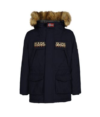 NAPAPIJRI K SKIDOO OPEN LONG FAUX FUR KID KID SKIDOO,DARK BLUE