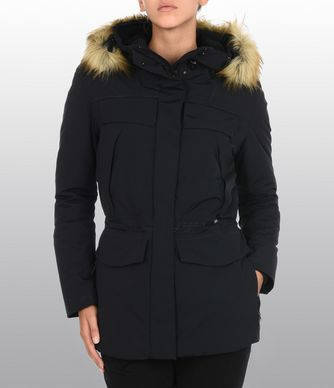 NAPAPIJRI SUPERLIGHT SKIDOO WOMAN FAUX FUR WOMAN PARKA,BLACK