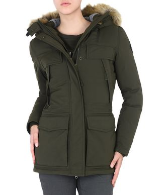 NAPAPIJRI SKIDOO OPEN LONG WOMAN SKIDOO,MILITARY GREEN