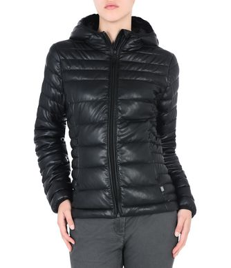 NAPAPIJRI AERONS ECO LEATHER WOMAN AERONS,BLACK