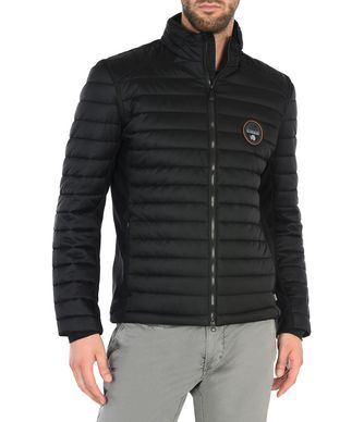 NAPAPIJRI ARMAG PACKABLE 2IN1 MAN SHORT JACKET,BLACK
