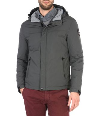 NAPAPIJRI ALCAN MAN SHORT JACKET,LEAD