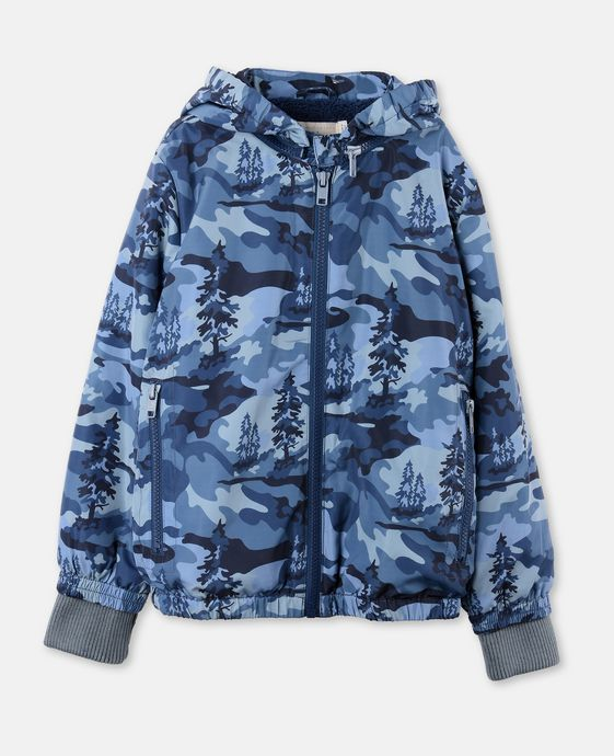 Veste Scout bleue avec motif paysage