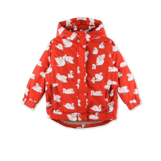 Rhonda Red Swan Print Jacket