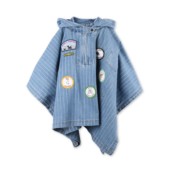 Tambourine Blue Cape With Badges