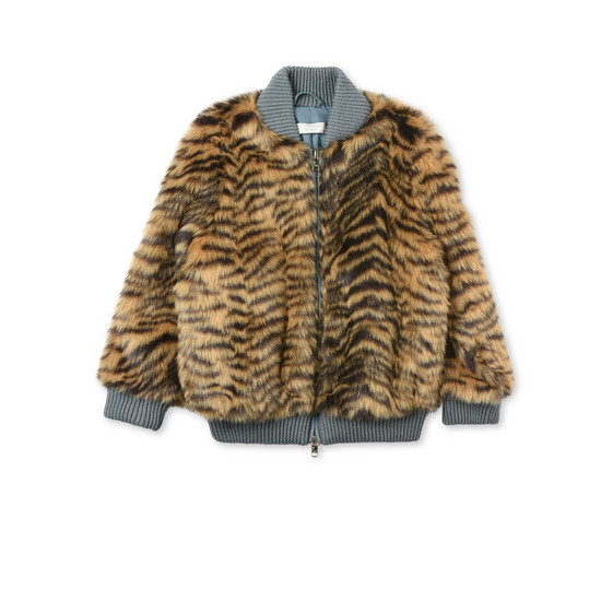 STELLA McCARTNEY KIDS Outerwear D Tilly Faux-Fur Tiger Coat f