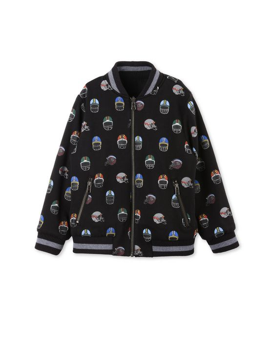 STELLA McCARTNEY KIDS Eastwood Reversible Bomber Jacket. Outerwear U p