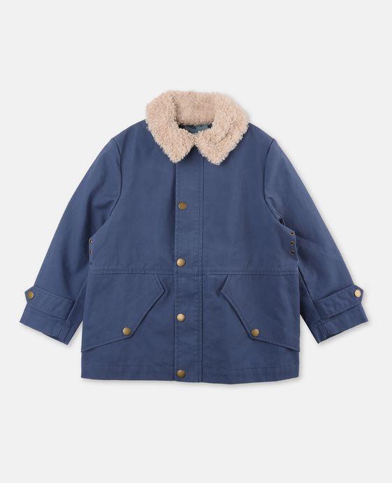 STELLA McCARTNEY KIDS Luke Blue Teddy Jacket Outerwear U c