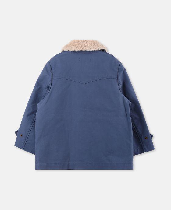 STELLA McCARTNEY KIDS Luke Blue Teddy Jacket Outerwear U i