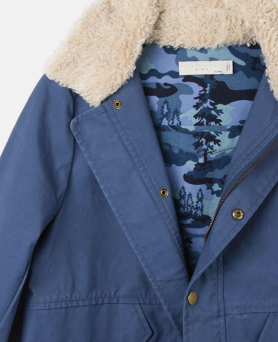 STELLA McCARTNEY KIDS Luke Blue Teddy Jacket Outerwear U p