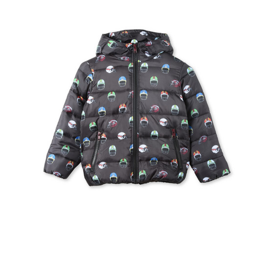 Hubert Black Helmet Print Down Jacket