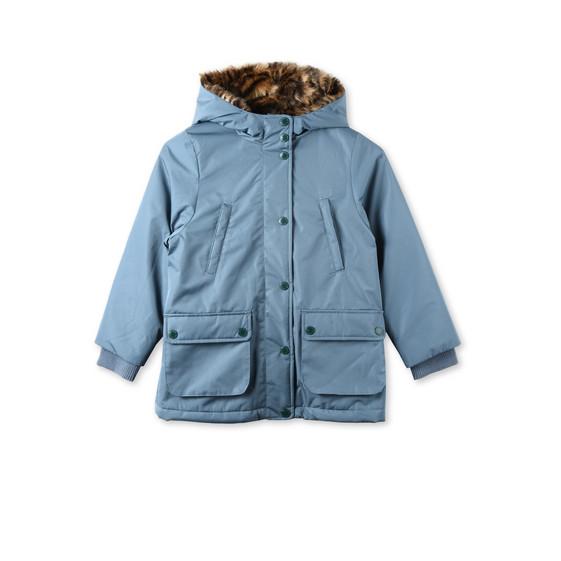 Blythe Blue Faux-Fur Coat