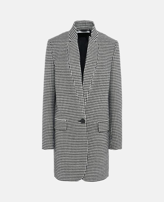 Check Print Bryce Coat