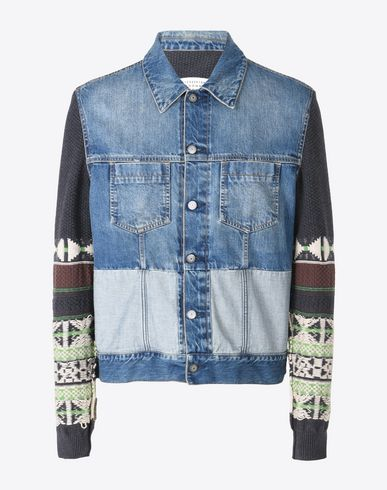 MAISON MARGIELA Jacket U Denim jacket with contrasting sleeves f